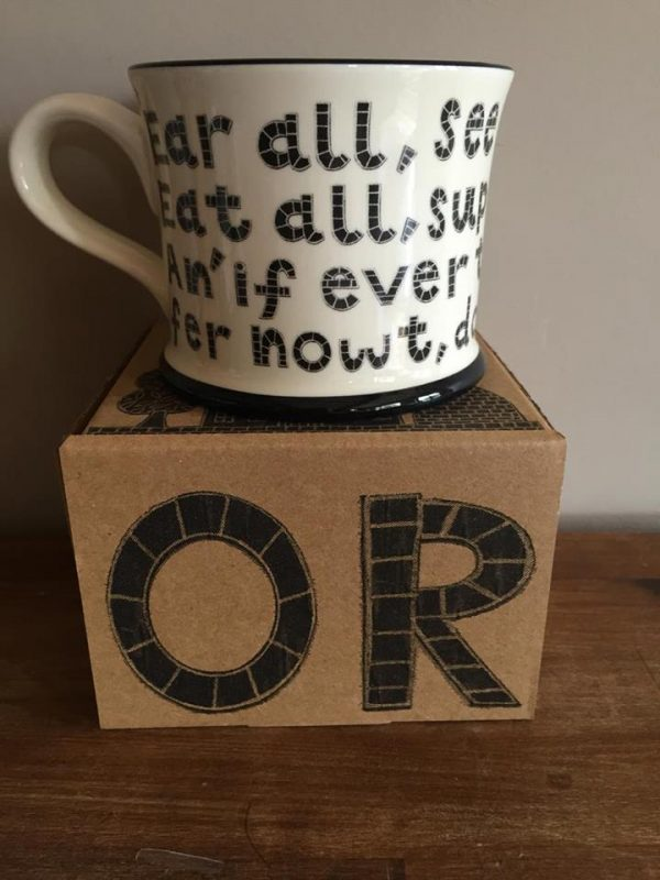 Moorland Pottery 'Ear all, see all, say nowt' Mug Gift Boxed-0