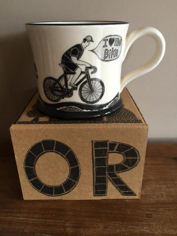 Moorland Pottery I Love Me Bike Mug Gift Boxed-2021