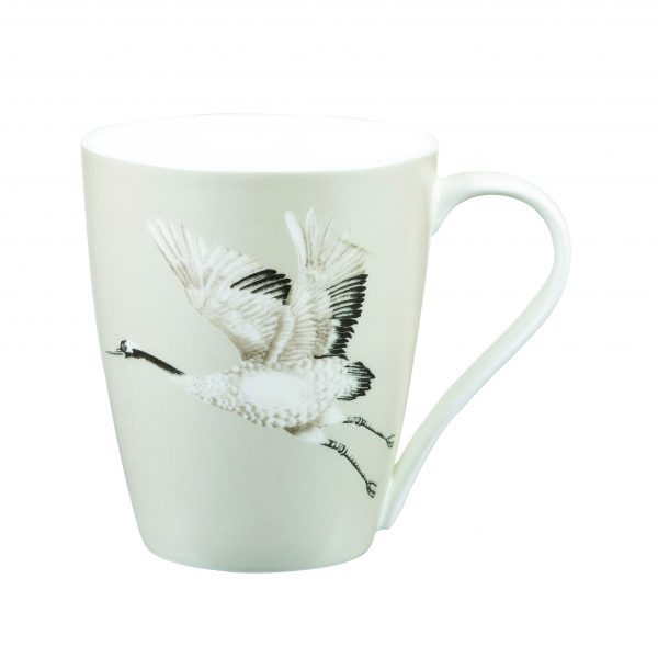 Harlequin Cranes In Flight Platinum Gift Boxed Mug-2035