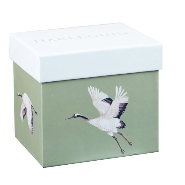 Harlequin Cranes In Flight Platinum Gift Boxed Mug-2036