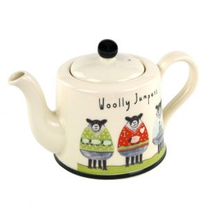 Moorland Pottery Sheep Woolly Jumpers Teapot Tea Pot Gift Boxed-0