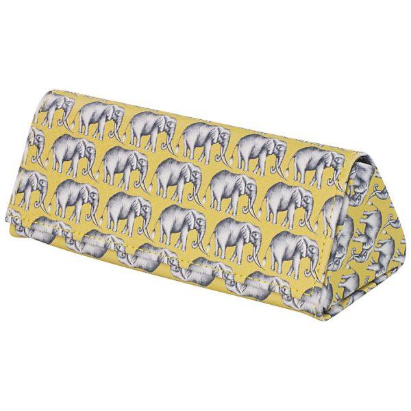 Harlequin Savanna Elephant Glasses Case-0
