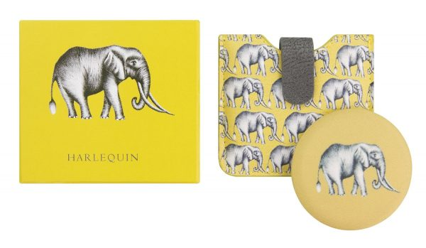Harlequin Savanna Elephant Mirror-0