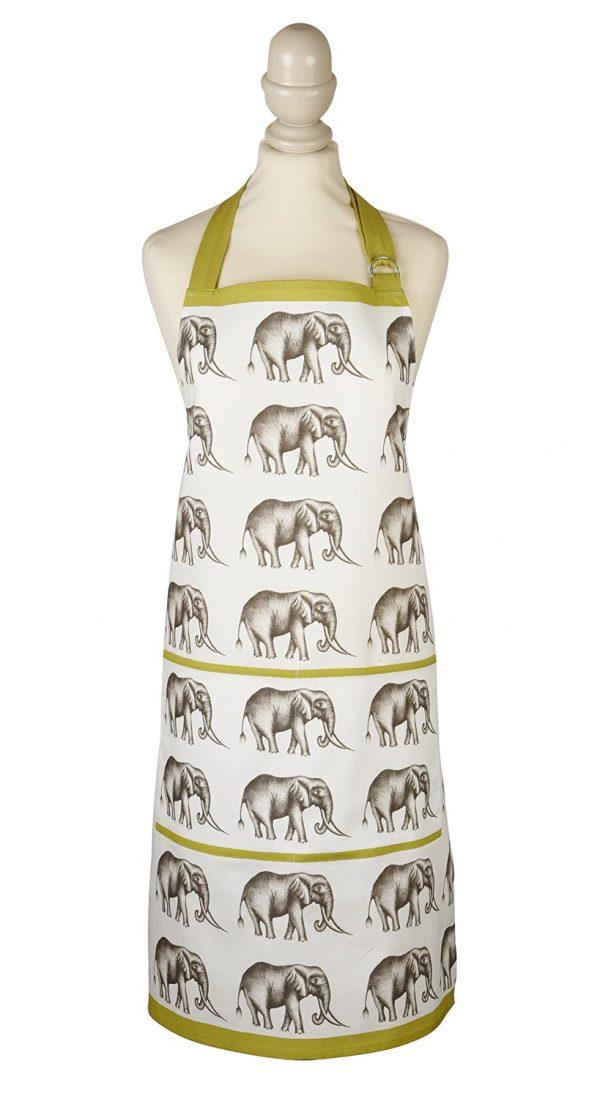 Harlequin Savanna Elephant Apron-0
