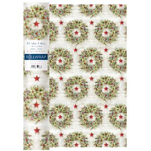 Henry Ling of London Christmas Wreath Roll Gift Wrap-0