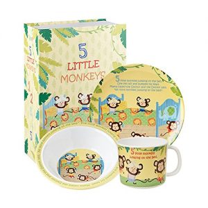 Little Rhymes 5 Little Monkeys 3 Piece Set Gift Boxed-0