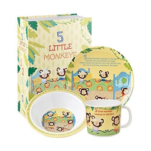 Little Rhymes 5 Little Monkeys 3 Piece Set Gift Boxed-0