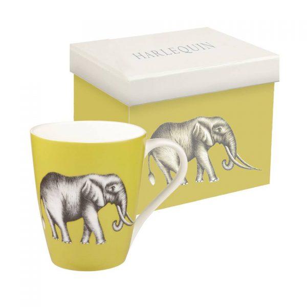 Harlequin Savanna Elephant Gooseberry Mug-0