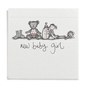 Janie Wilson New Baby Girl Card-0