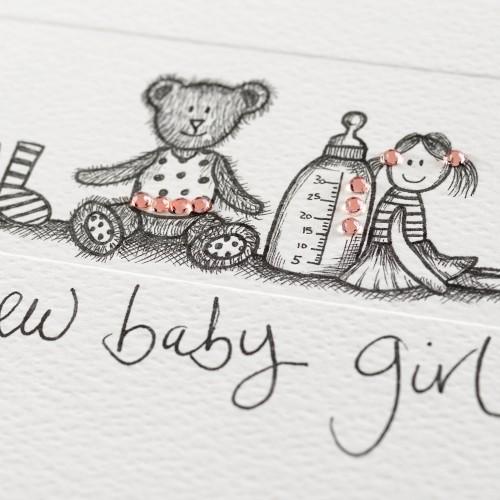 Janie Wilson New Baby Girl Card-2166