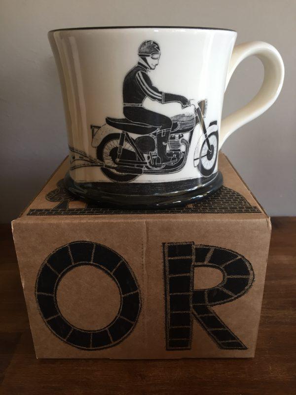 Moorland Pottery Born To Ride Motorbike Mug Gift Boxed-0