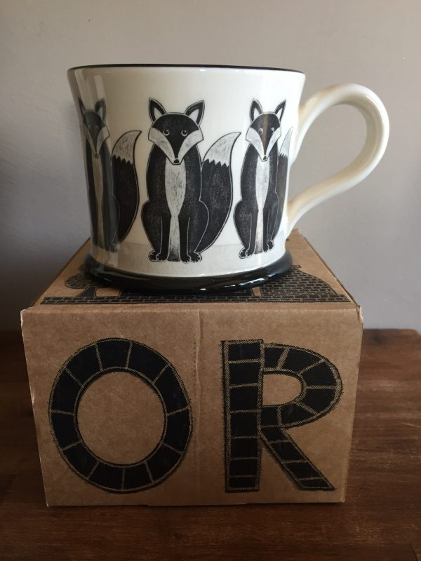 Moorland Pottery Fox Mug Gift Boxed-0