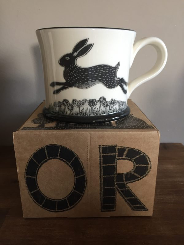 Moorland Pottery Hare Rabbit Mug Gift Boxed-0