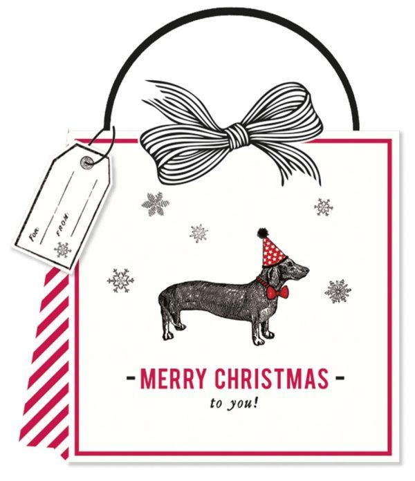 Alice Scott Merry Christmas Sausage Dog Gift Bag-0