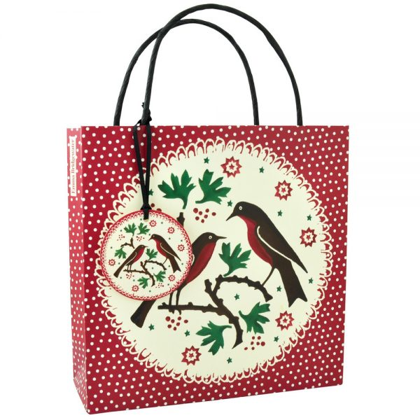 Emma Bridgewater Joy Robin Medium Gift Bag-0