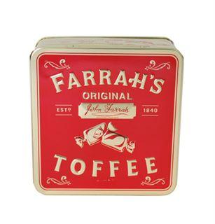 Farrah's of Harrogate Original Toffee Flat Tin 100g-0
