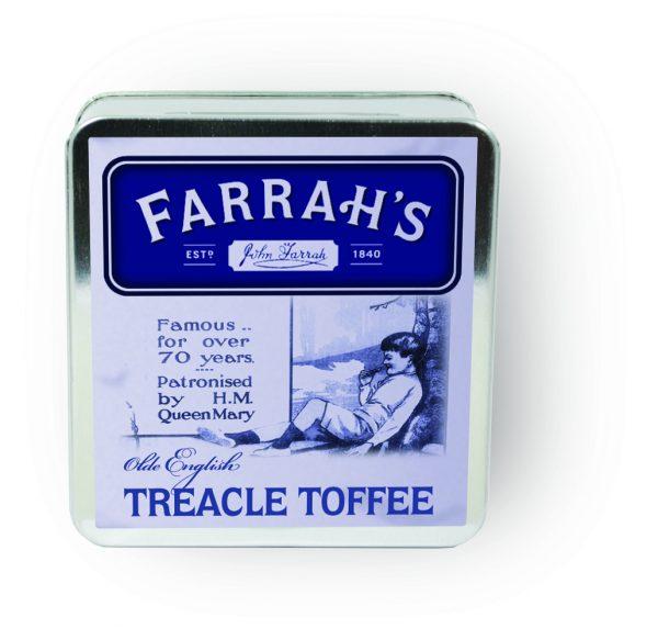 Farrah's of Harrogate Original Toffee Flat Tin 100g-2229