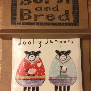 Moorland Pottery Sheep Woolly Jumpers Coaster-0
