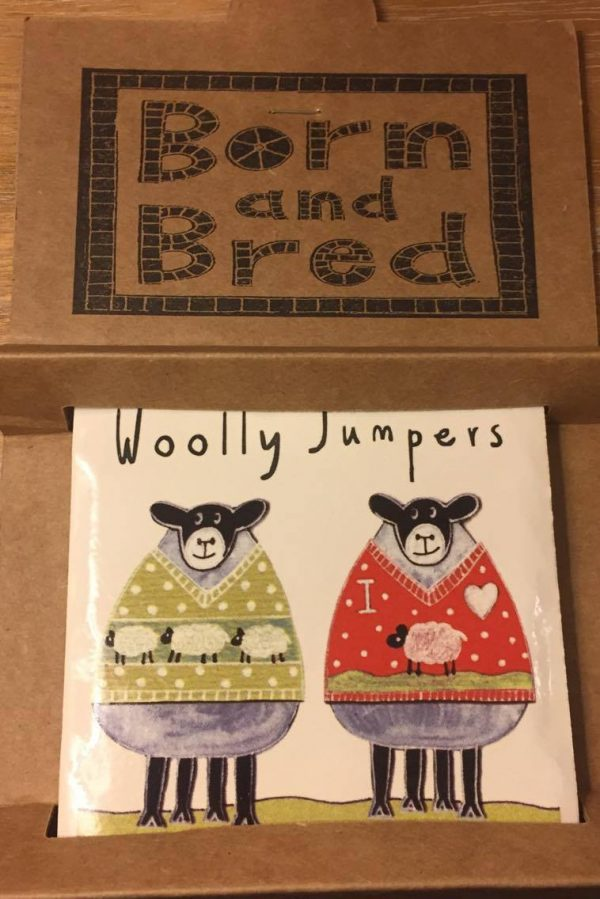 Moorland Pottery Sheep Woolly Jumpers Coaster-2234