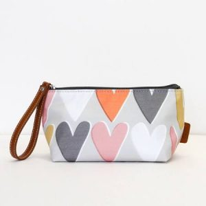 Caroline Gardner Layered Hearts Cosmetics Bag -0