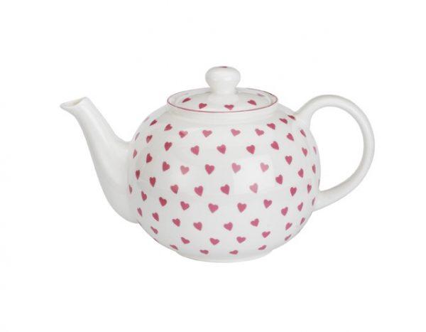 Nina Campbell Large Pink Heart Teapot-0