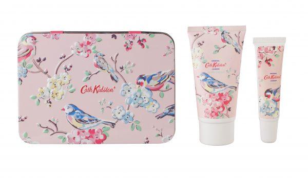 Cath Kidston White Clover & Matcha Tea Hand & Lips Set in Tin-0
