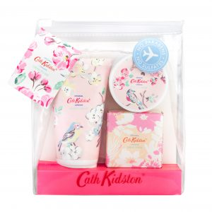 Cath Kidston Pink Blossom Birds Manicure To Go Set-0
