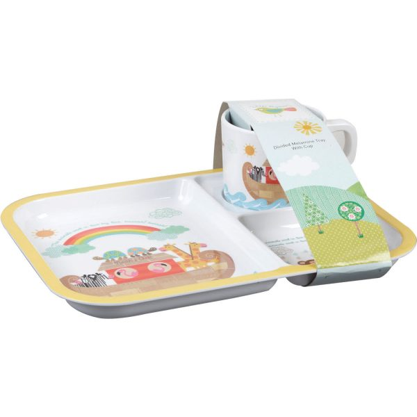 Little Rhymes Noah's Ark Melamine Tray & Cup Set-0
