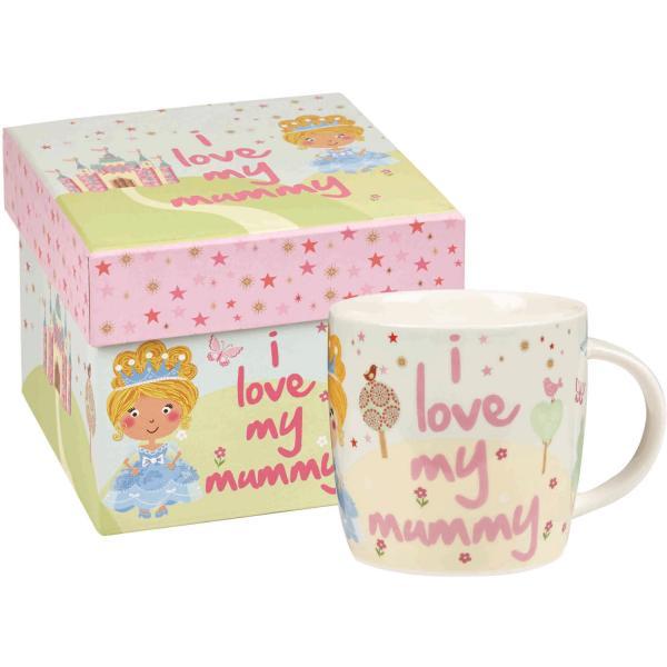 Little Rhymes Cinderella I Love My Mummy Gift Hat Boxed Mug-0