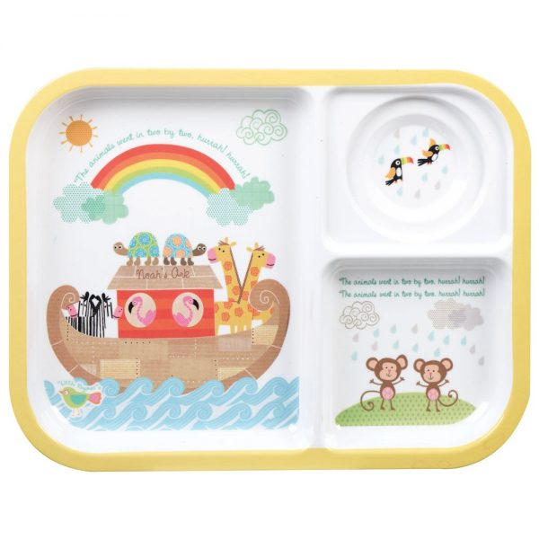 Little Rhymes Noah's Ark Melamine Tray & Cup Set-2281