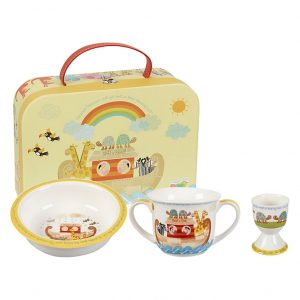Little Rhymes Noah's Ark Egg Cup, Bowl and Mug Gift Boxed Set-0