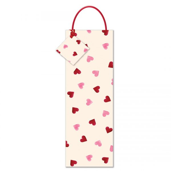 Emma Bridgewater Pink Hearts Bottle Gift Bag-0