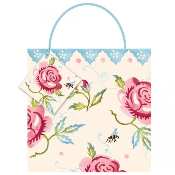 Emma Bridgewater Rose & Bee Medium Gift Bag-0