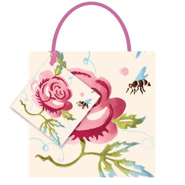 Emma Bridgewater Rose & Bee Small Gift Bag-0