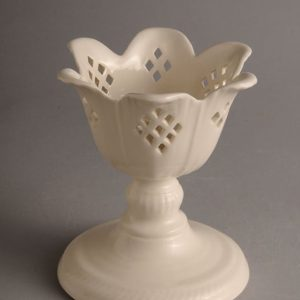 Hartley Greens Leeds Pottery Pierced Tulip Candle Holder Diamond-0