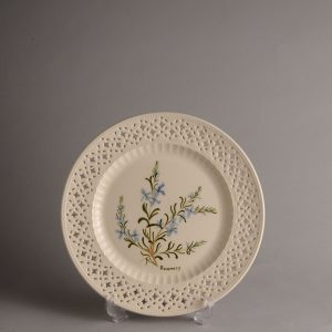 Hartley Greens & Co Leeds Pottery Herb & Spice Pierced Plate - Rosemary-0