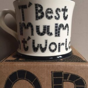 Moorland Pottery T' Best Mum int' World Mug Gift Boxed-0