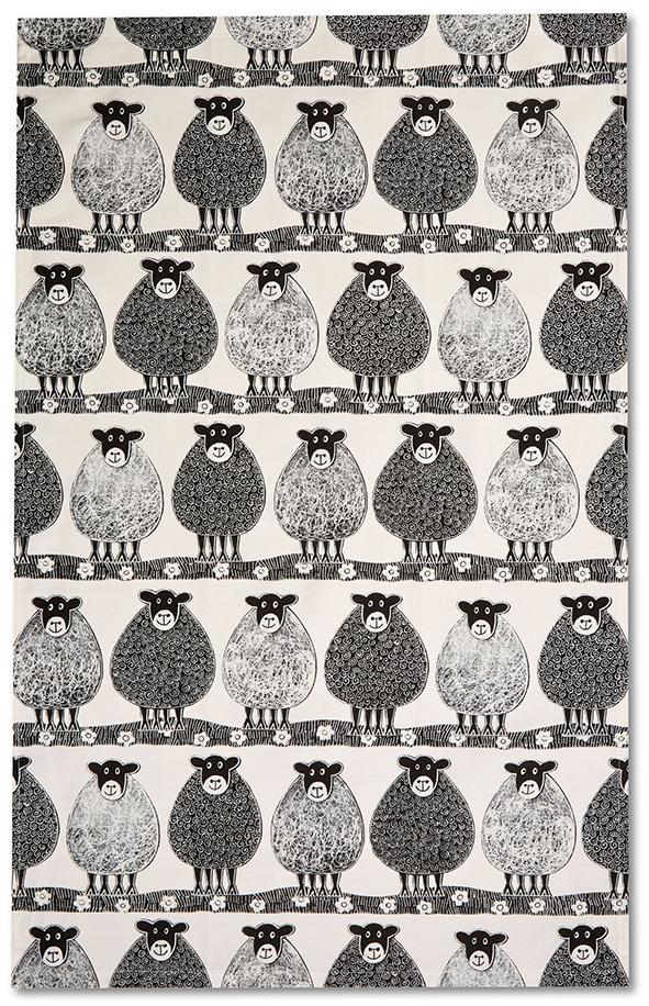 Moorland Pottery Sheep Tea Towel-0