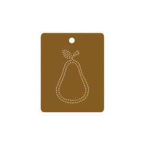 Orla Kiely Scribble Pear Gift Tag x 5-0