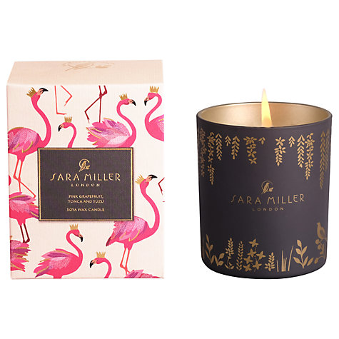 Sara Miller Flamingo Grapefruit, Tonca and Yuzu Scented Candle-0