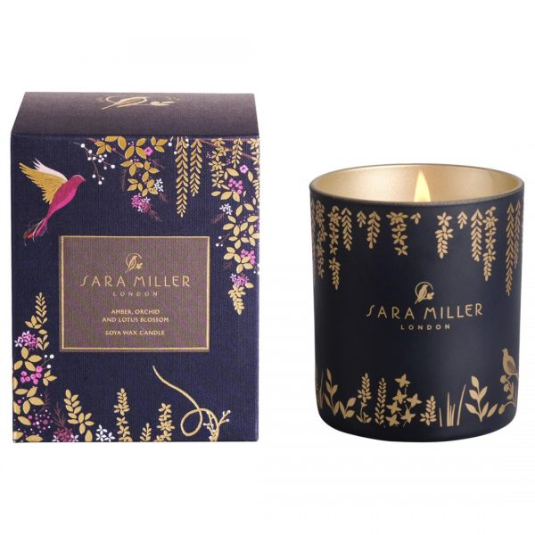 Sara Miller Amber, Orchid and Lotus Blossom Scented Candle-0