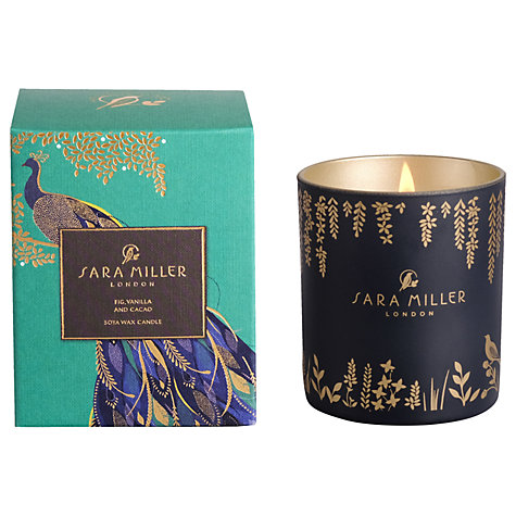 Sara Miller Fig, Vanilla and Cacao Scented Candle-0