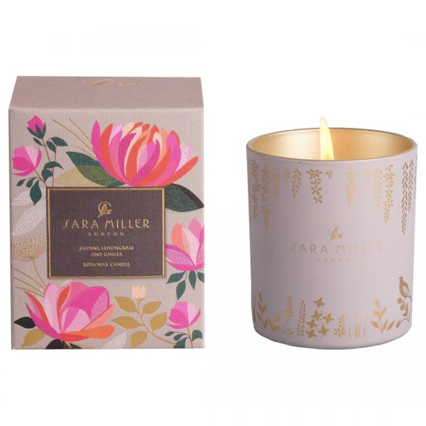 Sara Miller Jasmine, Lemongrass and Ginger Scented Candle-0