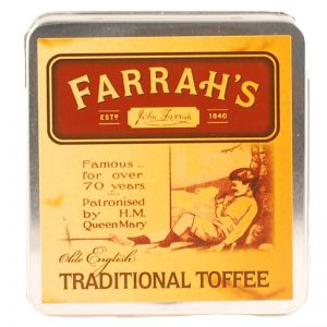 Farrah's of Harrogate Traditional Toffee Flat Tin 100g-0
