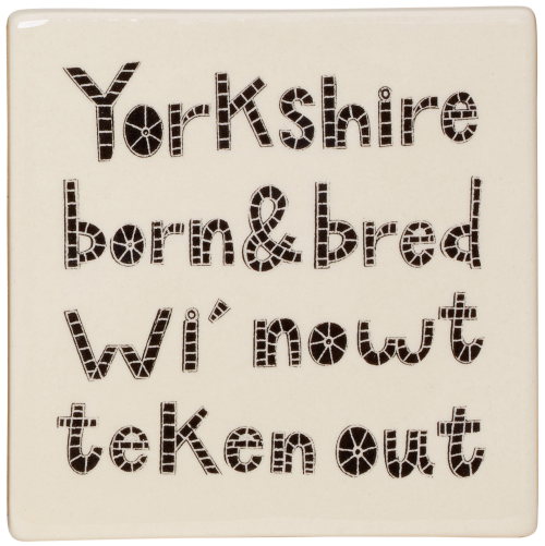Moorland Pottery Yorkshire Born and Bred coaster