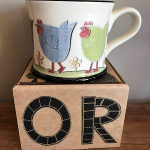 Moorland Pottery Chicken Run Mug Gift Boxed-0