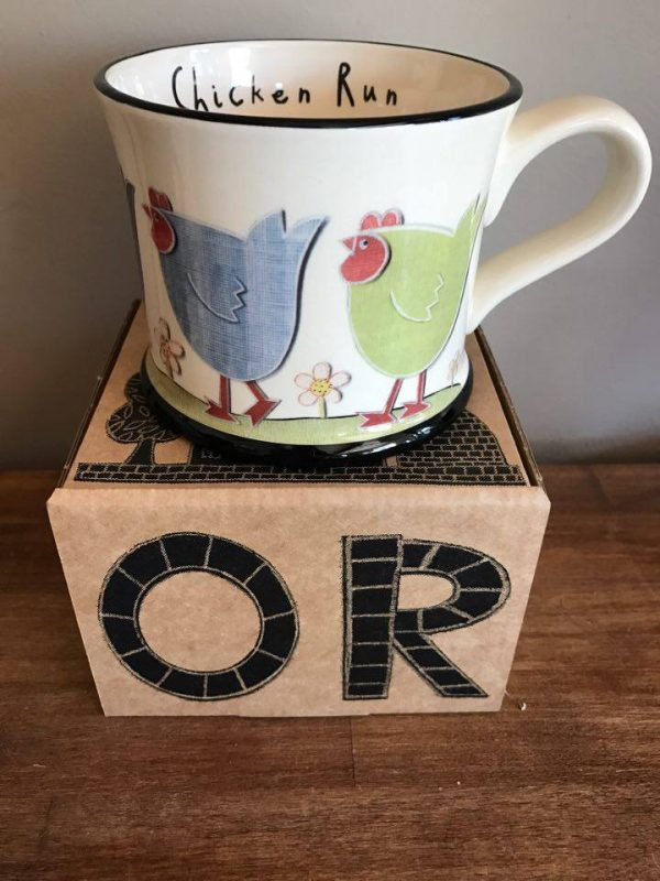 Moorland Pottery Chicken Run Mug Gift Boxed-2486