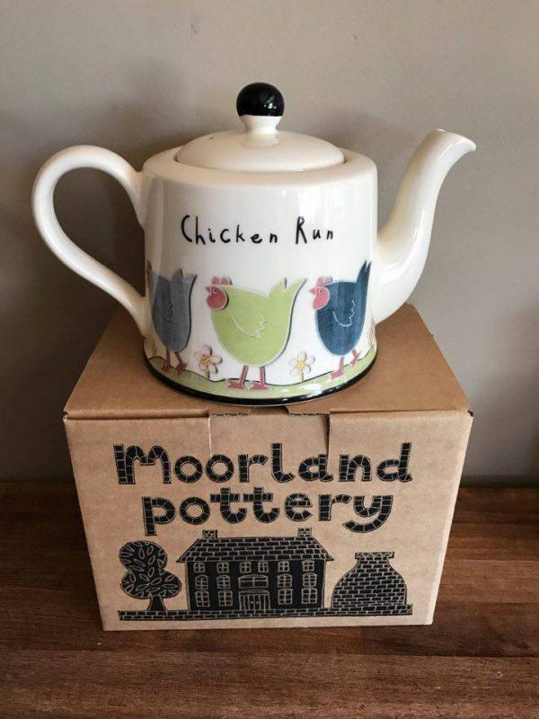 Moorland Pottery Chicken Run Teapot-2484