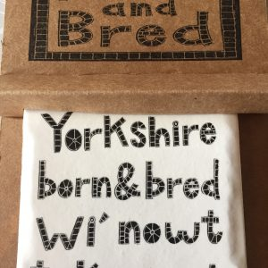 Moorland Pottery Yorkshire Born & Bred Coaster - Gift Boxed-0