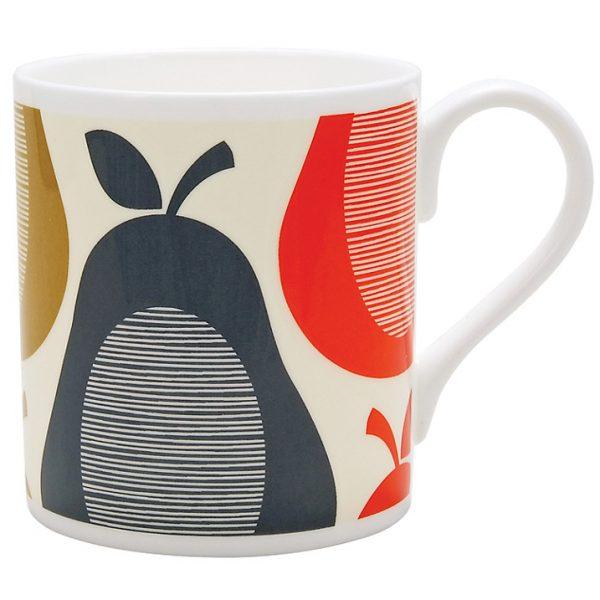 Orla Kiely Pear Slate Stripe Mug-0